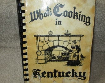 Vintage What's Cooking in Kentucky  cookbook Kentucky recipes