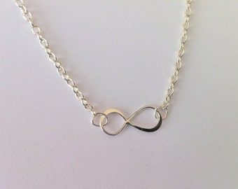 Infinity Necklace - Sterling Silver, Birthday Gift | Gift for Mom | Teacher Gift