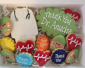 Thank you DOCTOR Sugar Cookies MEDIUM