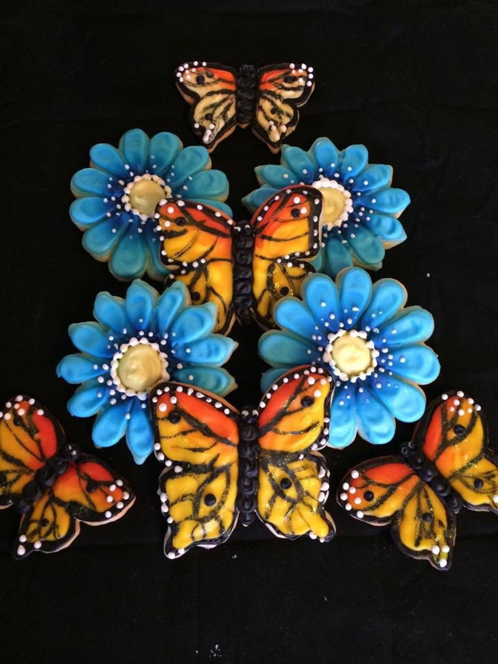 Flowers and Butterflies Cookies