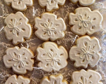 Sand Dollar Wedding Favor Sugar Cookies