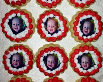1 Dozen Mini Photo Cookies