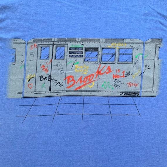 Vintage 80s Brooks Running NYC Subway Graffiti Sin