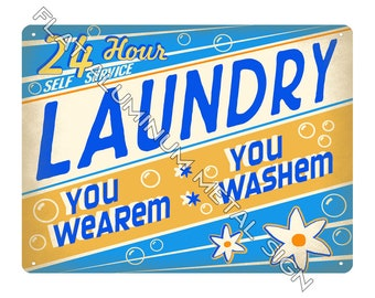Laundromat Sign Etsy