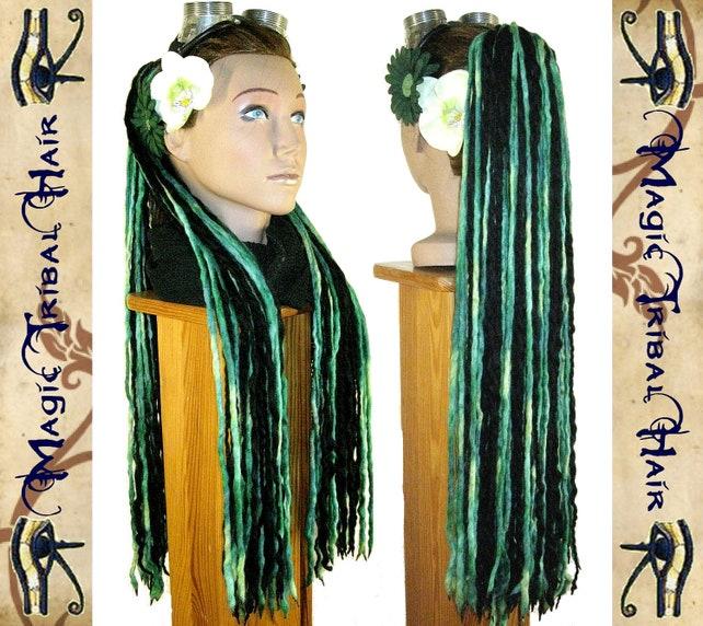 Cyber Faery Goa Dread Falls Dreadlock Yarn Hair Falls 96 Etsy