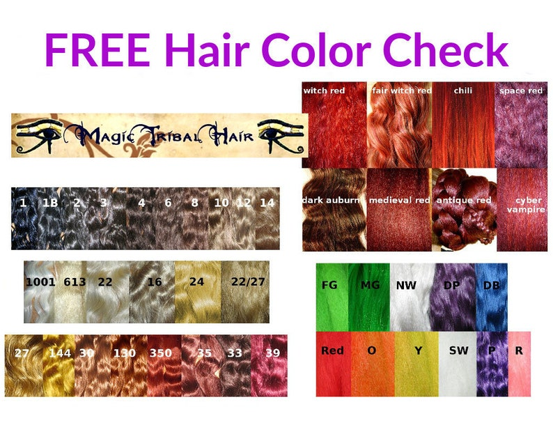 HAIR COLOR CHECK free color advice for hair falls up to 39 inches/100 cm  long custom hair piece Free Advice, you needn\'t buy this offer!