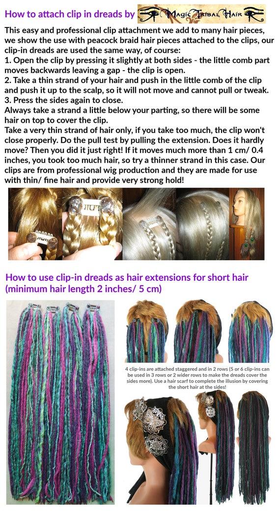 Dreadlocks For Short Hair Many Colors Gypsy Tribal Fusion Etsy