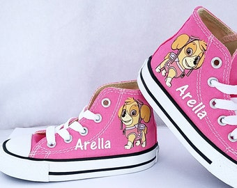 f3b763bc1536b Paw Patrol Shoes Skye Everest Pink Girls Personalized Name