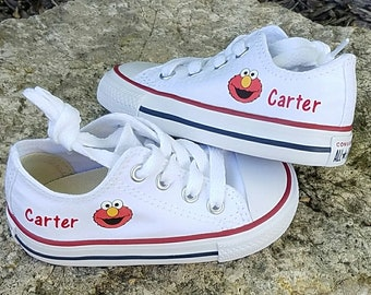 Elmo Converse, Personalized Shoes, Boy or Girl, You Choose Shoe Color and Name Color, Infant Toddler Sizes