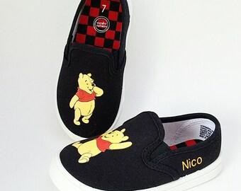 854c122af6ac2 Winnie the pooh shoe   Etsy
