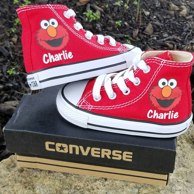 9df96f5e8ca9 Elmo Sneakers Converse Shoes Personalized Name Toddler