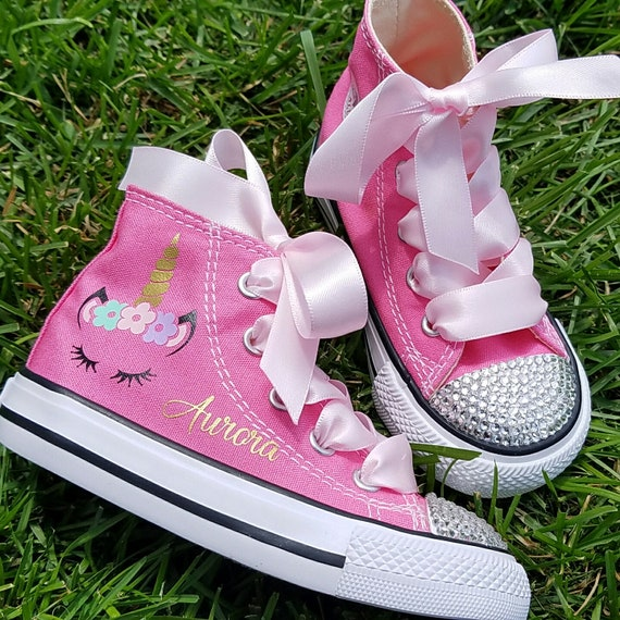 Unicorn Shoes Crystal Converse Girls