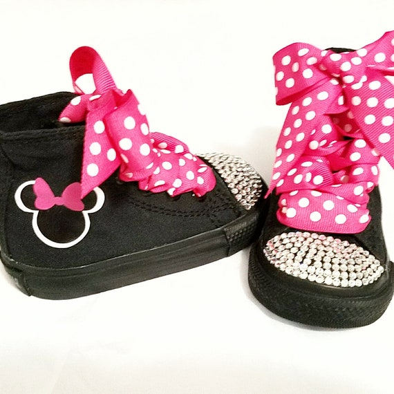 Minnie Mouse Shoes Personalized Converse Hot Pink Mono  c7301077a