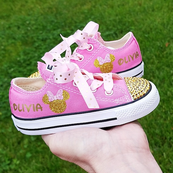 Minnie Mouse Shoes Pink and Gold