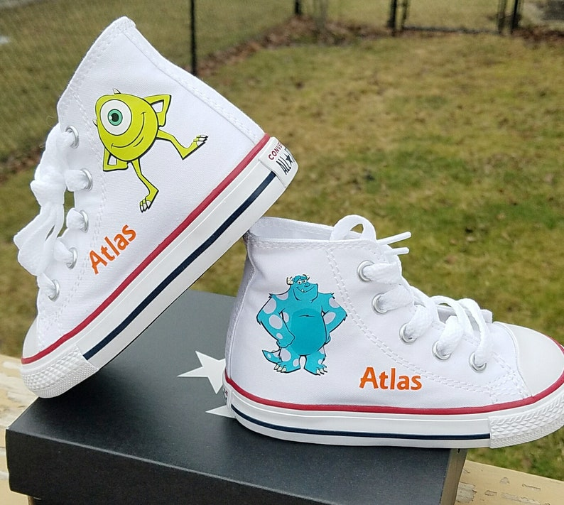 e33f8c8c2d9c Monsters Inc Shoes White Converse Toddler Sizes