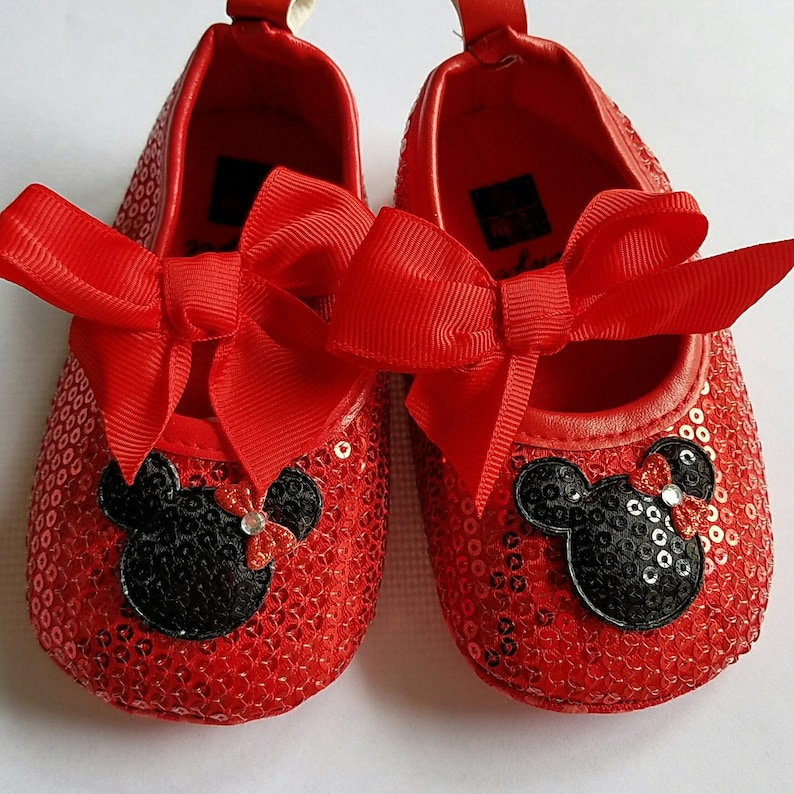 ab7a9a33f64a Minnie Mouse Shoes Red and Black 12-18 Months Ready To