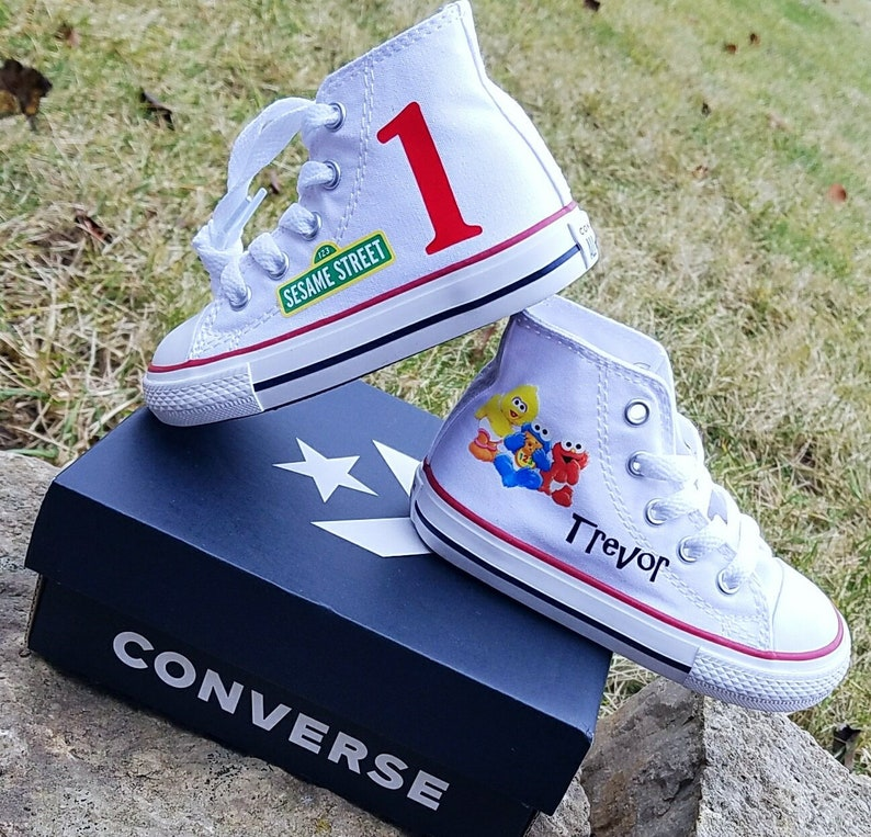 2198eee0a797 Sesame Street Shoes Baby Converse White Sneakers Toddler