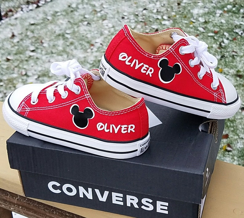 9432b96f1475 Boys Converse Mickey Shoes Infant Toddler Personalized