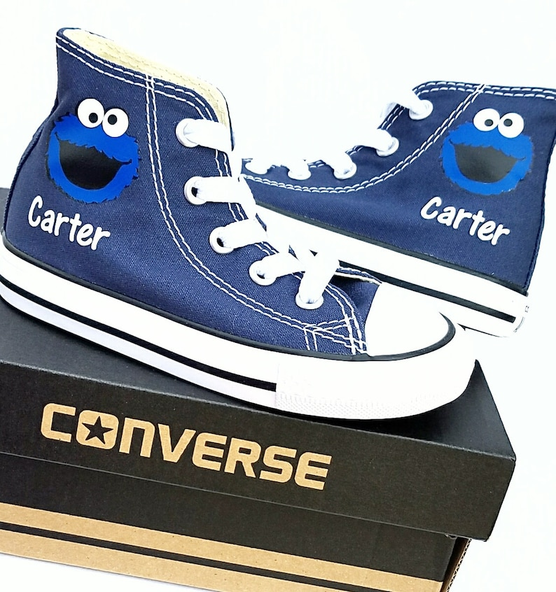 7e4e6cc36b38 Cookie Monster Shoes Personalized Converse Many Colors