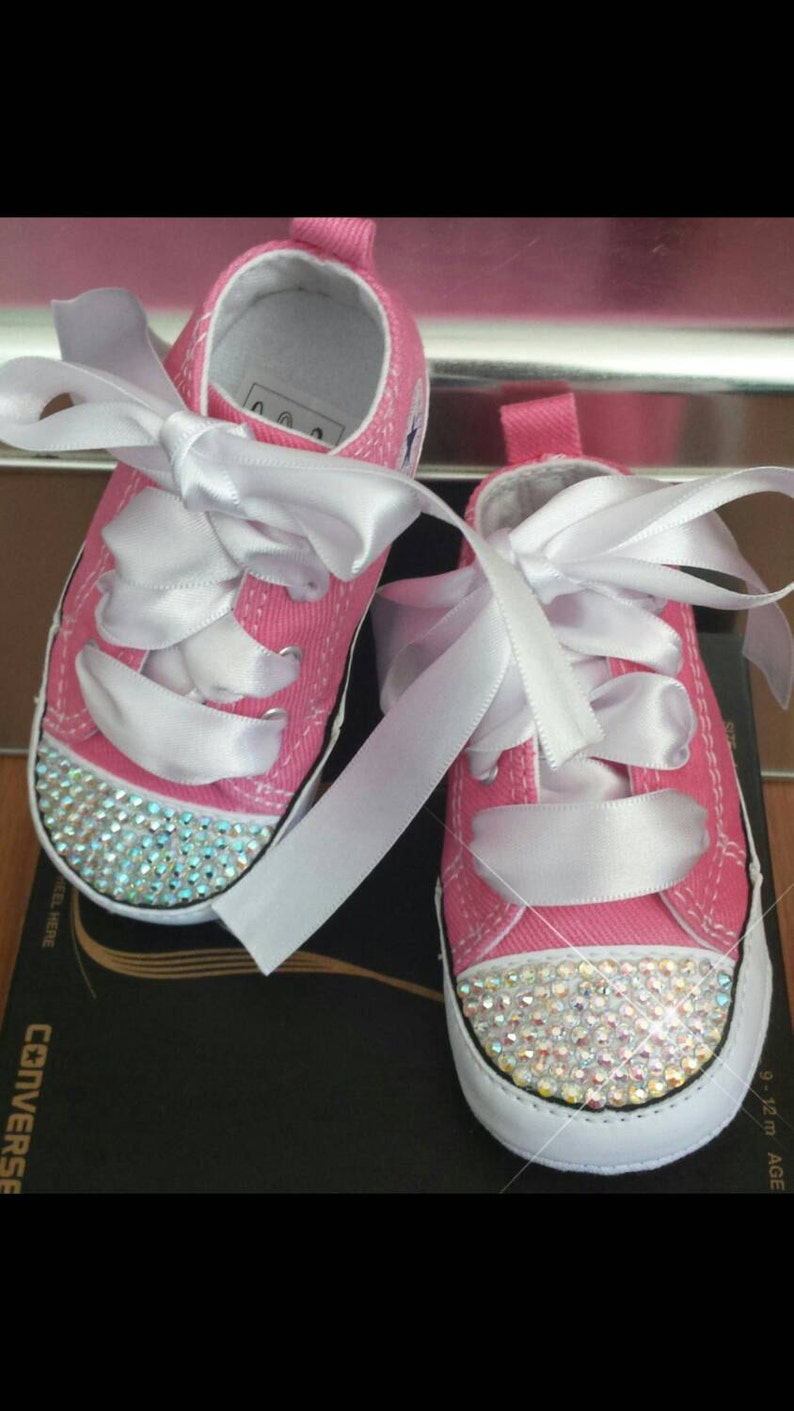 a9c420d3835c39 Pink Converse Baby Girls Bling Shoes Matching Tutu AB