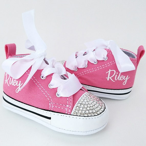 Pink Converse Baby Girls Personalized