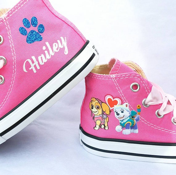 Paw Patrol Shoes, Pink Converse, Skye Everest, High Tops, Baby Toddler Sneakers, Name