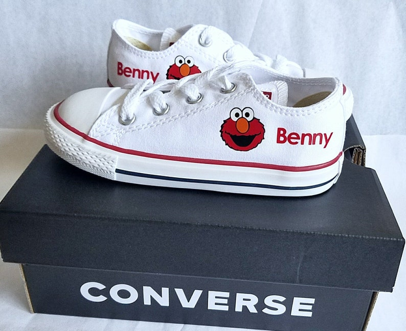 14f903b9ba3f Elmo Converse Personalized Shoes Boy or Girl You Choose