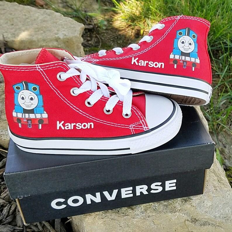 37dec4438c33 Thomas Tank Shoes Personalized Converse Boys Sneakers