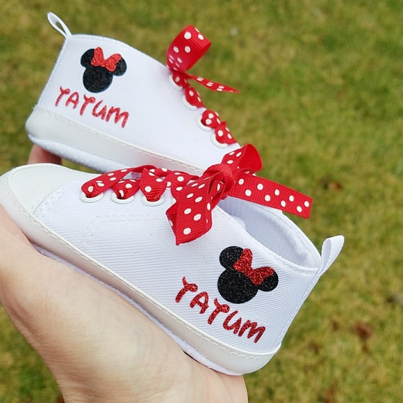 Minnie Mouse Baby Shoes Personalized