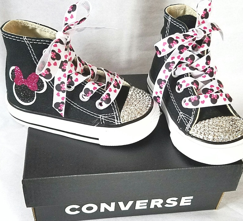 724a9101043d Minnie Mouse Shoes Personalized Converse Crystal Toes Bling
