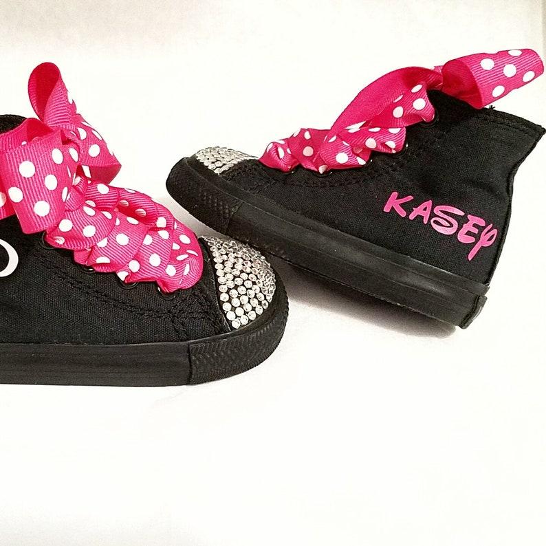 abd87e74d1c8 Minnie Mouse Shoes Personalized Converse Hot Pink Mono