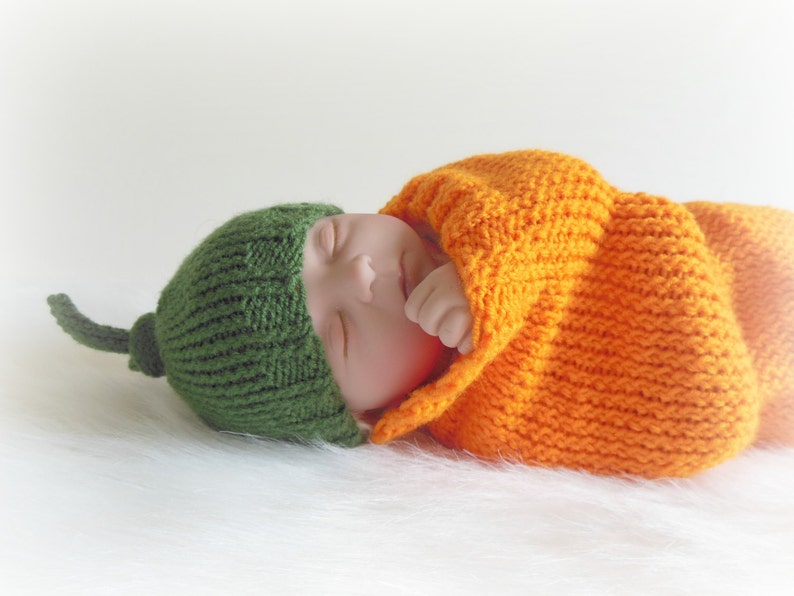 Custom Made to Order Pumpkin Cocoon & Hat Set Sleep Sack image 1