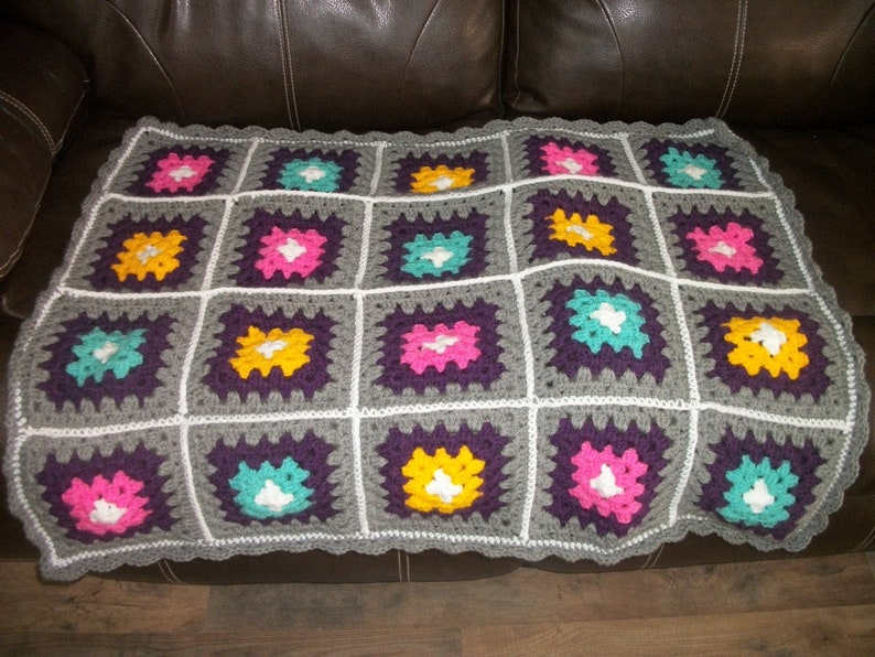 CUSTOM ANY COLOR Afghan Made to Order 38X38 inches Baby Blanket