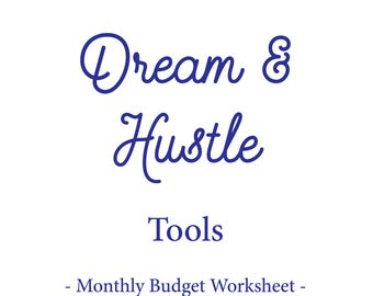 Monthly budget excel   Etsy