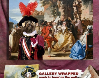 Lhasa Apso Art Canvas Print Dog Lover Gifts by Nobility Dogs