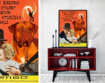 Dogue de Bordeaux Art Vertigo Vintage Movie Poster by Nobility Dogs