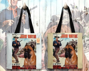 Cane Corso Art Tote Bag   The Searchers Movie Poster by Nobility Dogs