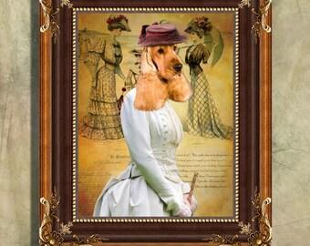 English Cocker Spaniel Art Print 11 x 14 inch original illustration artwork giclee archival premium poster print By Nobility Dogs