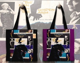 Kerry Blue Terrier Art Tote Bag   The Man with the Golden Arm Movie Poster by Nobility Dogs