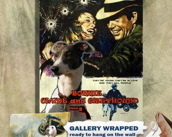 Bonnie and Clyde Greyhound Art Print Vintage Movie Poster