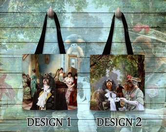English Toy Spaniel Tote Bag   by Nobility Dogs Arts