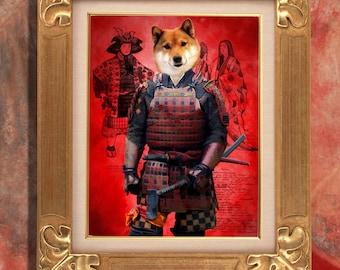 Shiba Inu Art Print 11 x 14 inch original illustration artwork giclee archival premium poster print By Nobility Dogs