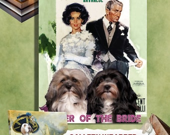 Havanese Dog Art Father of the Bride Movie Poster