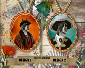 Boxer Dog Jewelry Pendant by Nobility Dogs