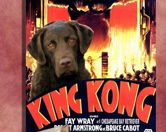 Chesapeake Bay Retriever Art King Kong
