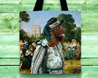 Sussex Spaniel Art Tote Bag    by Nobility Dogs Arts