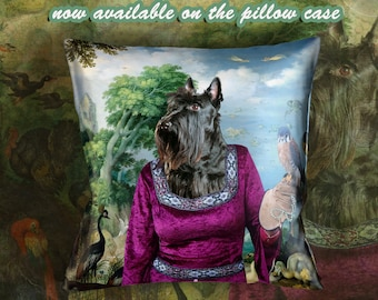 Christmas Gifts Scottish Terrier  Pillow by Nobility Dogs Arts