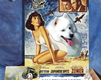 American Eskimo Dog Vintage Movie Style Poster Canvas Print  - Suddenly Last Summer Movie Poster