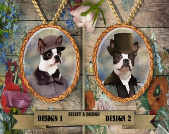 Boston Terrier Jewelry Handmade Pendant funny Boston Terrier Dog Boston Terrier Charm Porcelain Jewelry Boston Terrier Gift Personalized Dog