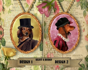 Dachshund Longhaired Jewelry Handmade Gifts by Nobility Dogs
